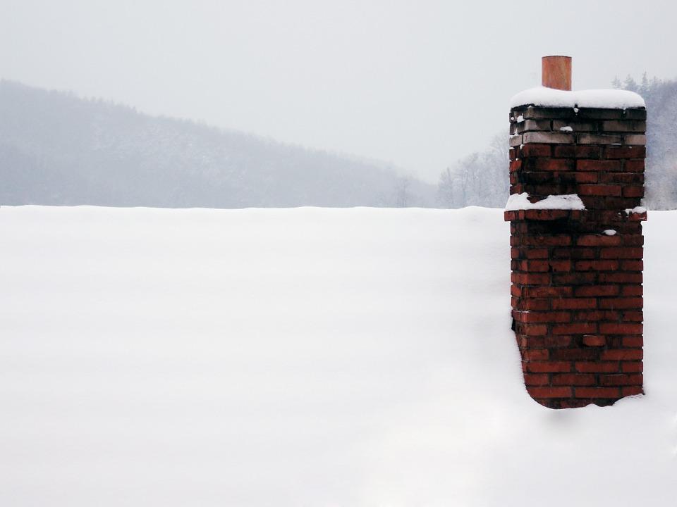 chimney in winter