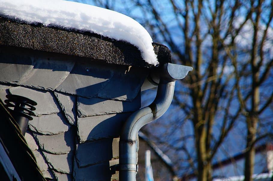 gutters in winter
