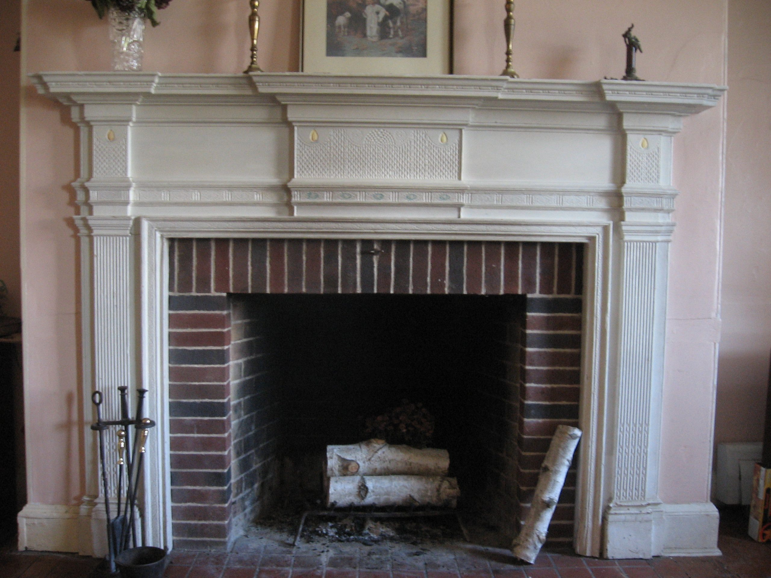 fireplace with stone veener
